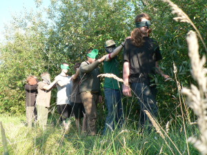 Wolf Camp Instructors In Training - Blindfold Walk