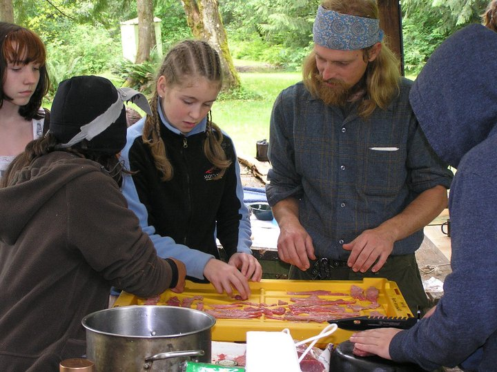 Survival Camp Andrew Teaching Jerky