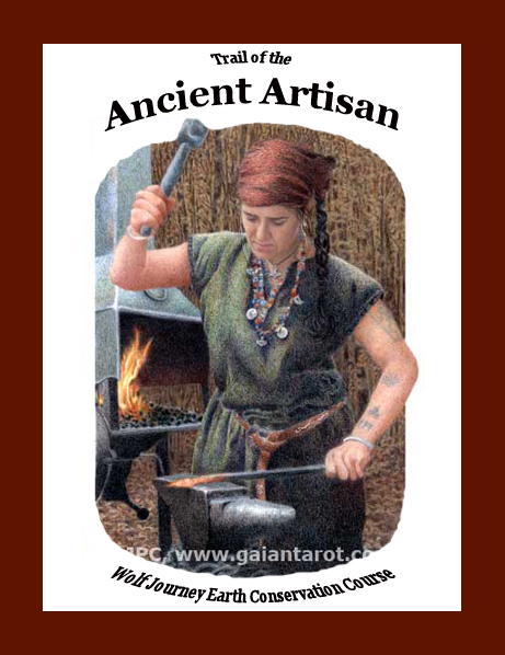 Ancient Artisan Book Cover Artwork by Joanna Powell Colbert