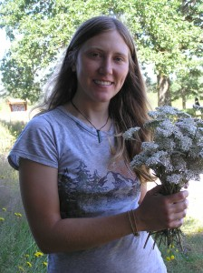 Rachel Edwards with Yarrow