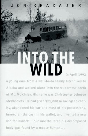 Into The Wild Book Cover by Jon Krakauer