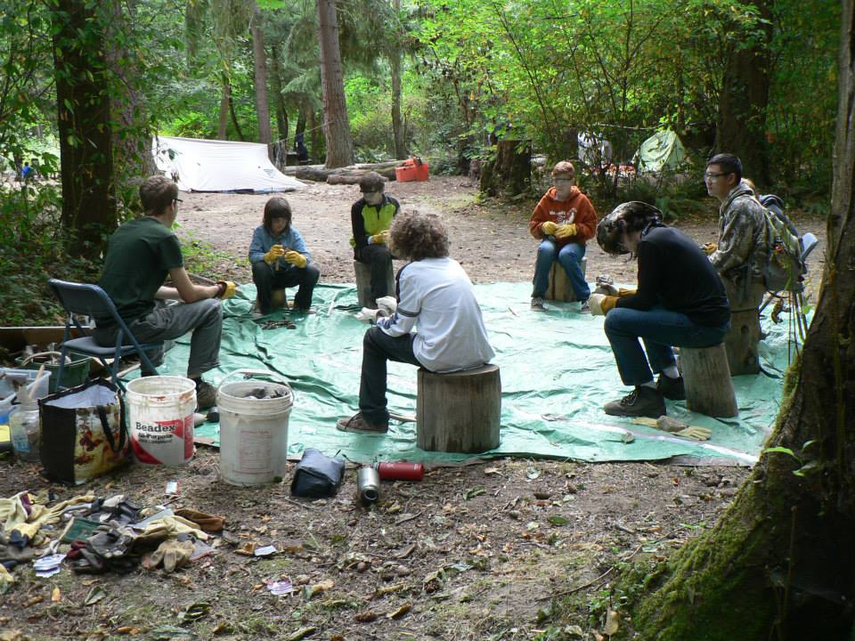 Archers artists artisans wolf camp and the for Camp stone