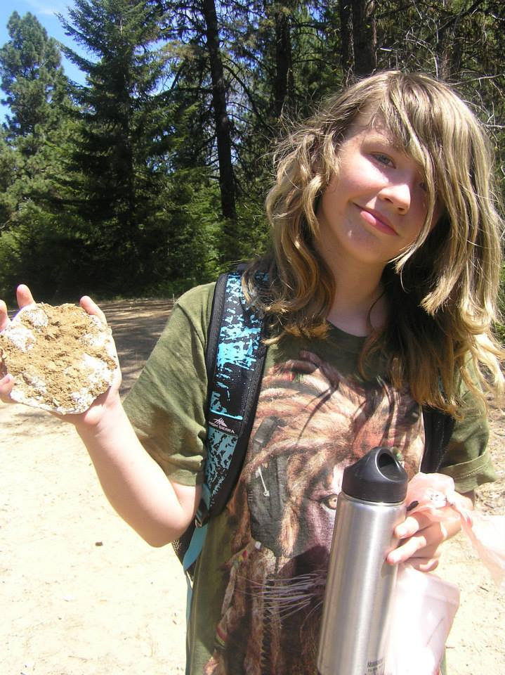 Camper Shows Off Her Wolf Track Plaster-Cast