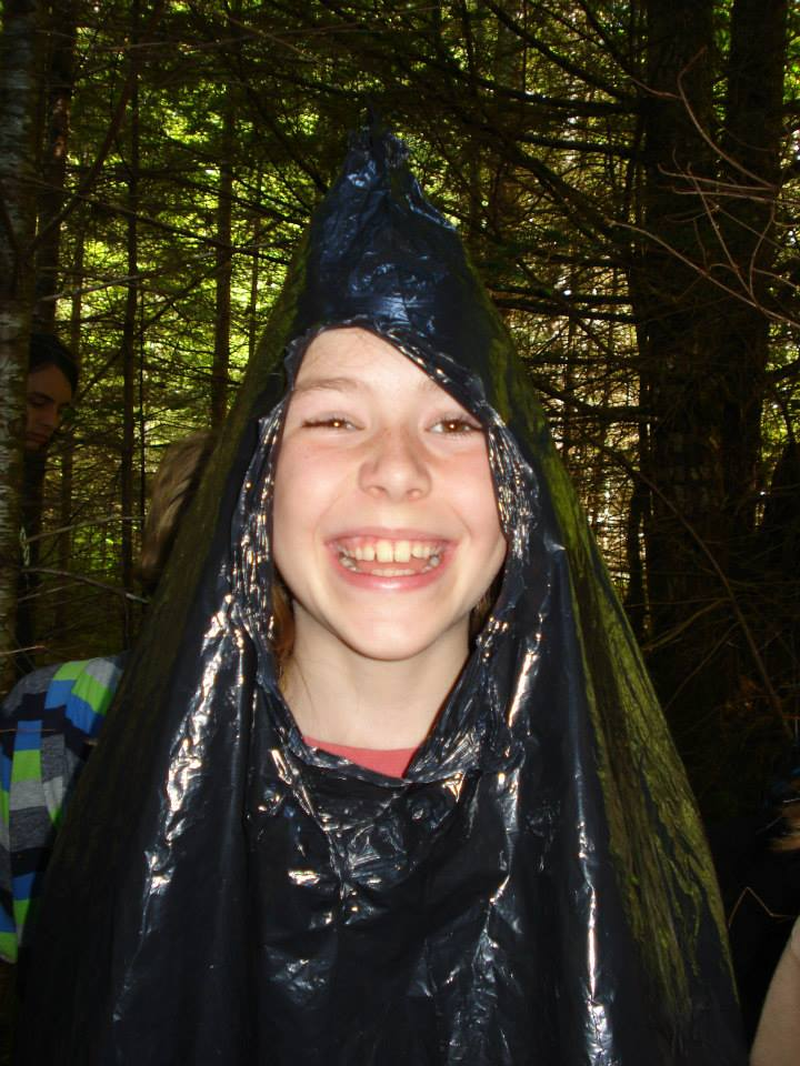 """Excited Survivalist Demonstrates Proper use of an """"Emergency Poncho"""""""